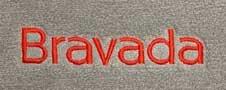 bravada embroidered emblem custom fit floor mats