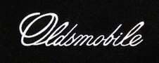 Oldsmobile embroidered logo floor mats