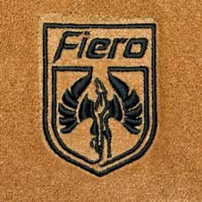 fiero embroidered badge custom fit mats