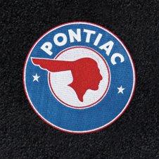 Custom fit vintage Pontiac logo floor mats