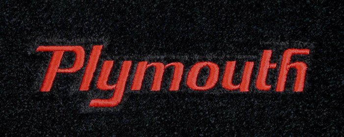 Cars Names And Logos >> custom fit plymouth logo floor mats for all plymouth cars, and vehicles