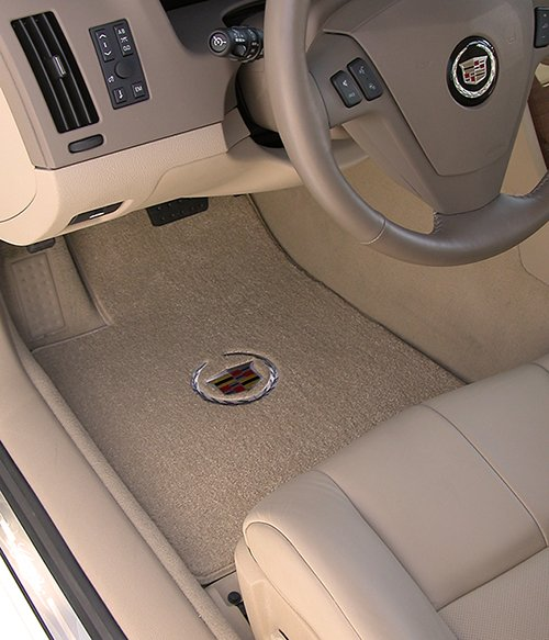 cadillac, cashmere, crest, floor mat, luxe, silver