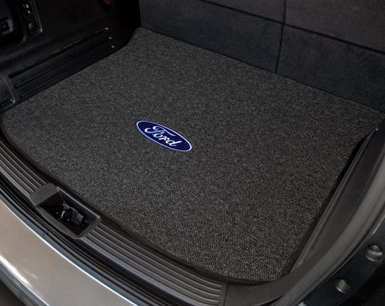 custom fit ford cargo mat, ford, lincoln logo cargo mat, logo cargo mat, custom fit ford trunk mat