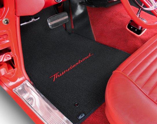 custom fit thunderbird floor mats, thunderbird logo floor mat