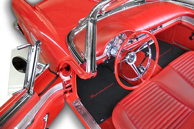 classic thunderbird car mats