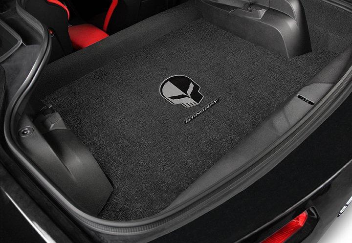custom fit corvette mats, Jake logo stingray cargo mat