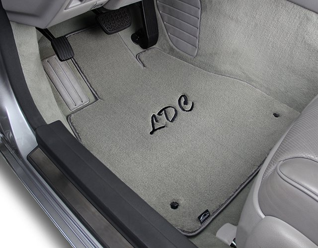 velourtex, initials, personalized, driver, carpet floor mat